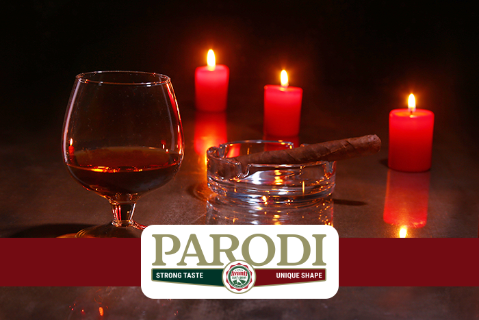 Parodi cigars with Whiskey