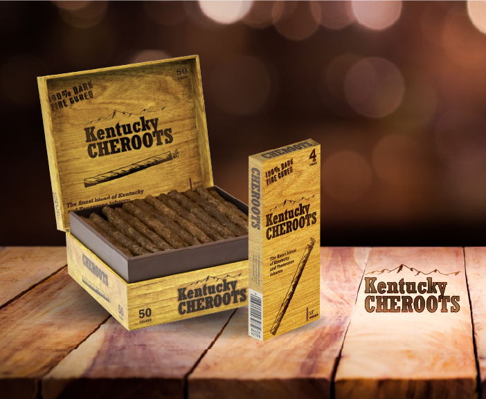4 Pack and 50 Pack of the New kentucky Cheroots Packages