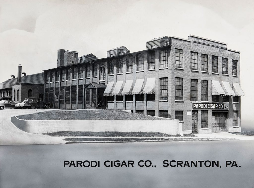 Parodi Cigar Company building in Scranton PA